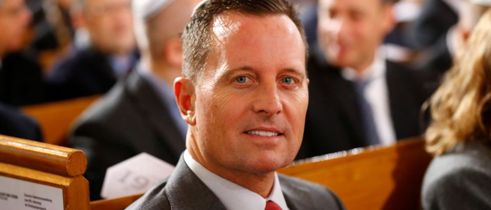 U.S. ambassador to Germany Richard Grenell arrives for a ceremony marking the 80th anniversary of Kristallnacht, also known as the Night of Broken Glass, at Rykestrasse Synagogue, in Berlin, Germany, November 9, 2018. REUTERS/Fabrizio Bensch