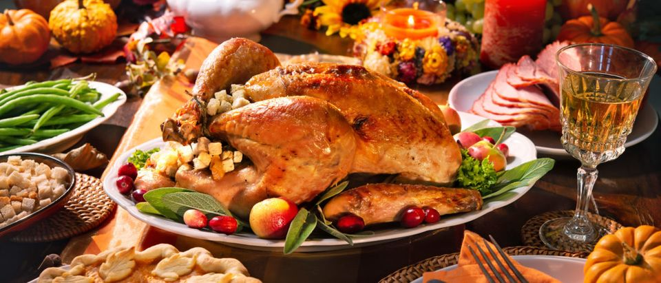A beautiful Thanksgiving feast is presented. Shutterstock image via user Alexander Raths