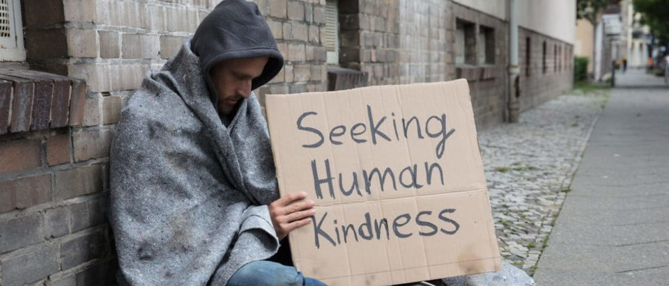Pictured is a homeless man. (Photo: Shutterstock)