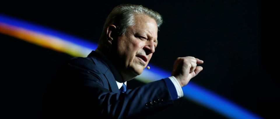 Al Gore, former U.S. vice president and Climate Reality Project chairman, gestures as he speaks at the COP24 U.N. Climate Change Conference 2018 in Katowice, Poland, Dec. 12, 2018. Agencja Gazeta/Grzegorz Celejewski/via REUTERS