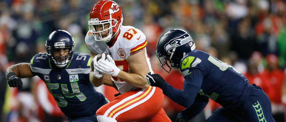 Kansas City Chiefs during the second quarter of the game at CenturyLink Field on December 23, 2018 in Seattle, Washington. (Photo by Otto Greule Jr/Getty Images)