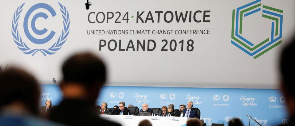 Participants take part in plenary session during COP24 in Katowice