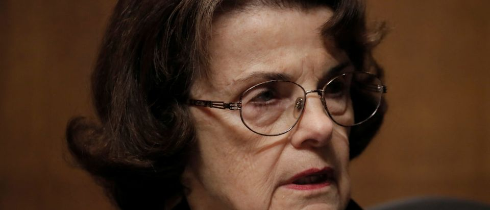 Sen. Dianne Feinstein speaks during a Judiciary Committee meeting to vote on the nomination of Judge Brett Kavanaugh to be a U.S. Supreme Court associate justice on Capitol Hill in Washington, U.S., Sept. 28, 2018. REUTERS/Jim Bourg