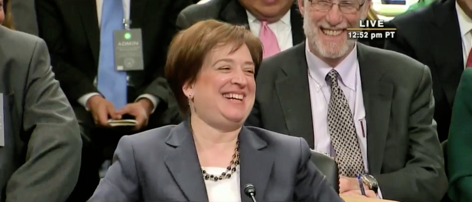 Justice Elena Kagan is at her confirmation hearing in 2010. (Screenshot/CSPAN)