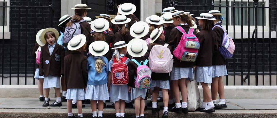 School Children Visit Downing Street