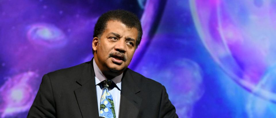 American Astrophysicist Neil deGrasse Tyson speaks onstage during the Onward18 Conference - Day 1 on Oct. 23, 2018 in New York City. (Photo by Craig Barritt/Getty Images for Onward18)