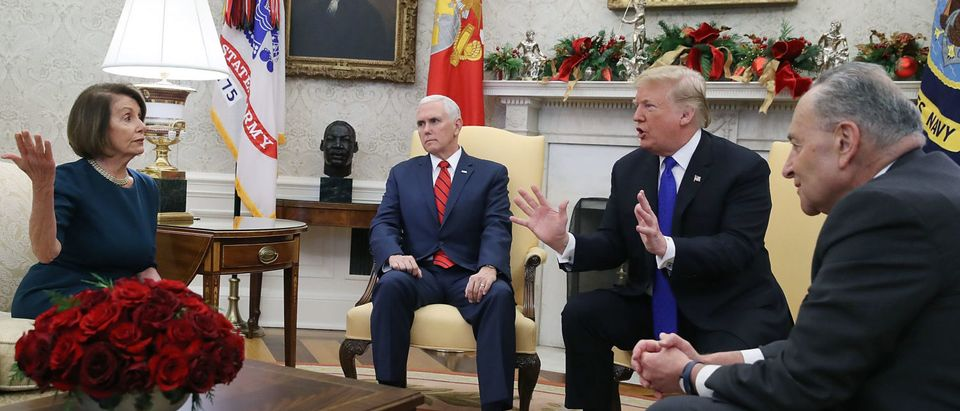 President Trump Meets With Nancy Pelosi And Chuck Schumer At White House
