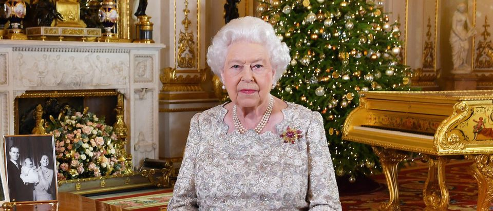 Queen Elizabeth II poses for a photo after she recorded her annual Christmas Day message, in the White Drawing Room at Buckingham Palace in a picture released on December 24, 2018 in London, United Kingdom. (Photo by John Stillwell - WPA Pool/Getty Images)