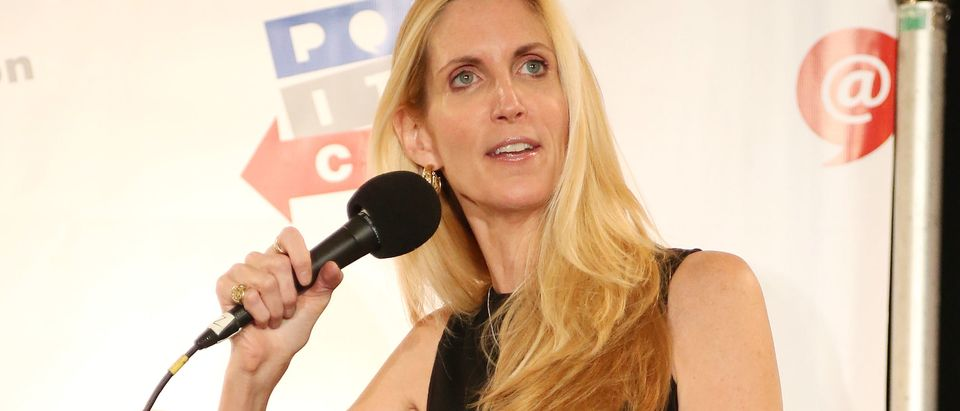 LOS ANGELES, CA - OCTOBER 10: Ann Coulter speaks during Politicon at the Los Angeles Convention Center on October 10, 2015 in Los Angeles, California. (Photo by Frederick M. Brown/Getty Images)
