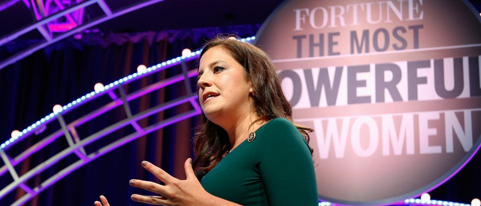 Congresswoman Elise Stefanik speaks onstage during Fortune's Most Powerful Women Summit - Day 1 at the Mandarin Oriental Hotel on October 12, 2015 in Washington, DC. (Photo by Paul Morigi/Getty Images for Fortune/Time Inc)
