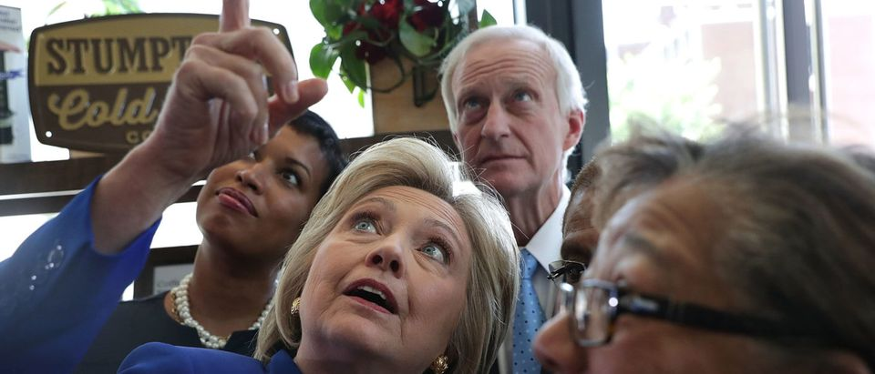 Hillary Clinton Meets With DC Mayor And DC Councilmember Jack Evans
