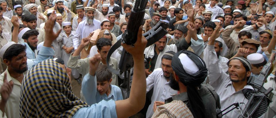 Pakistani alleged Taliban supporters cha