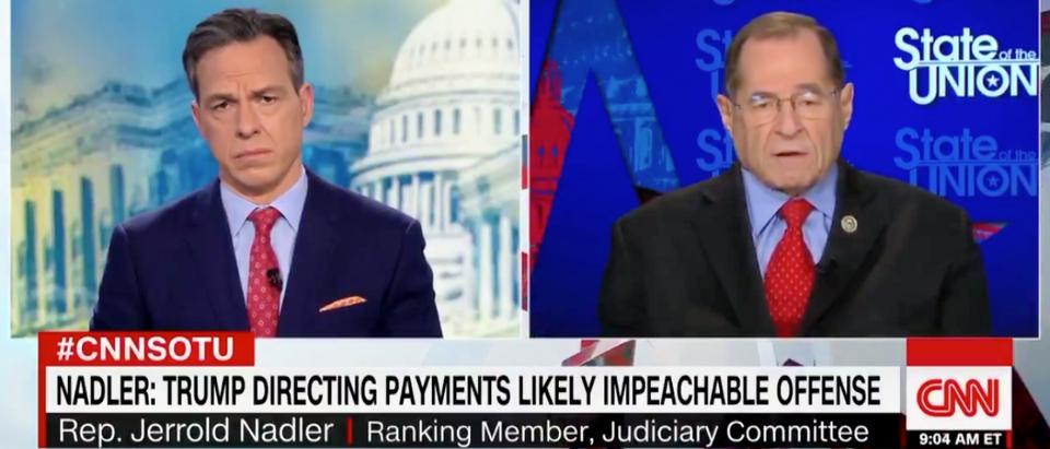 Rep. Jerry Nadler speaks to Jake Tapper on CNN on Dec. 9 2018 (Screenshot/CNN)