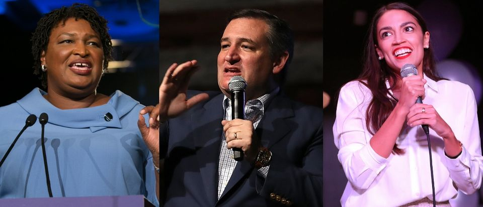 Stacey Abrams, Ted Cruz and Alexandria Ocasio-Cortez topped Google's list of most-searched politicians in 2018. Jessica McGowan/Getty Images, Justin Sullivan/Getty Images and Rick Loomis/Getty Images
