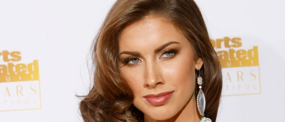 Katherine Webb arrives for the 50 Years of Beautiful broadcast special show celebrating the 50th Anniversary of the Sports Illustrated Swimsuit Issue at the Dolby Theater in Los Angeles, California, January 14, 2014. REUTERS/David McNew
