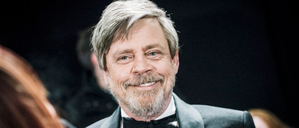 Mark Hamill attends the European Premiere of Star Wars: The Last Jedi at the Royal Albert Hall on December 12, 2017 in London, England. (Photo by Gareth Cattermole/Getty Images for Disney)