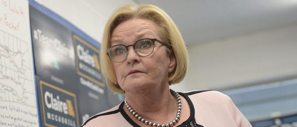 Sen. McCaskill (D-MO) Discusses Health Care At Campaign Event In Arnold, Missouri