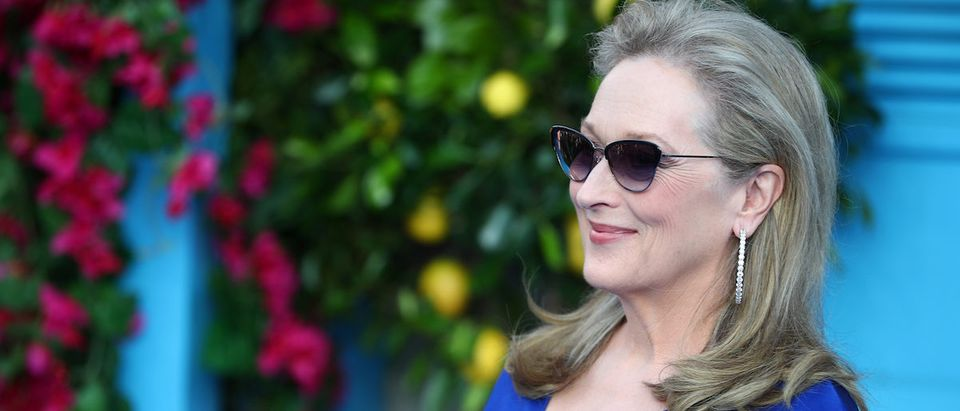 Meryl Streep attends the world premiere of Mamma Mia! Here We Go Again at the Apollo in Hammersmith, London, Britain, July 16, 2018. REUTERS/Hannah McKay