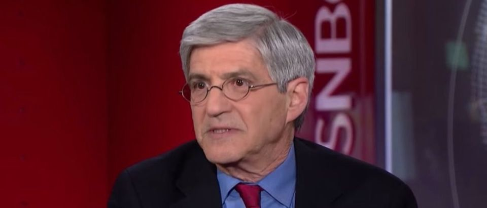 Pictured is Yahoo News reporter Michael Isikoff. (YouTube screen grab/MSNBC)