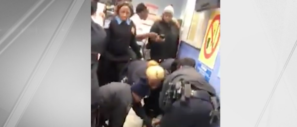 NYPD Officers HRA incident (YouTube screenshot/NBC New York)