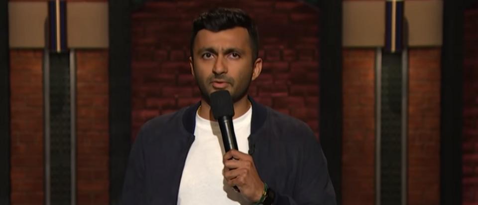 Nimesh Patel performs on Late Night with Seth Meyers (screengrab)
