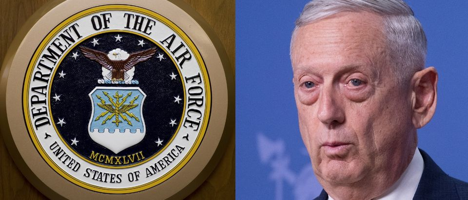 Two airmen are suing Defense Secretary James Mattis over their removal from service. PAUL J. RICHARDS/AFP/Getty Images and Jim Watson - Pool/Getty Images