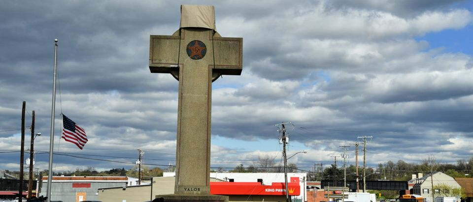 The Bladensburg Peace Cross, as seen in April 2018. (Maryland GovPics/accessed via Flickr creative commons)