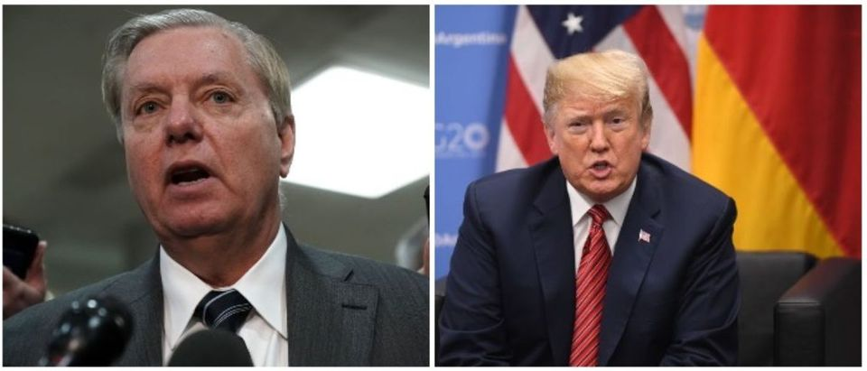 President Trump and Sen. Graham (LEFT: Alex Wong/Getty Images RIGHT: SAUL LOEB/AFP/Getty Images)