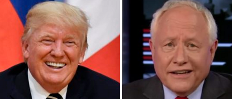 President Trump (left - JOHN MACDOUGALL Getty Images) Bill Kristol (right - MSNBC screengrab)