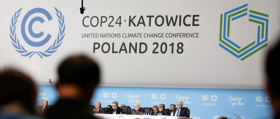Participants take part in the plenary session during COP24 U.N. Climate Change Conference 2018 in Katowice, Poland, Dec. 4, 2018. REUTERS/Kacper Pempel.