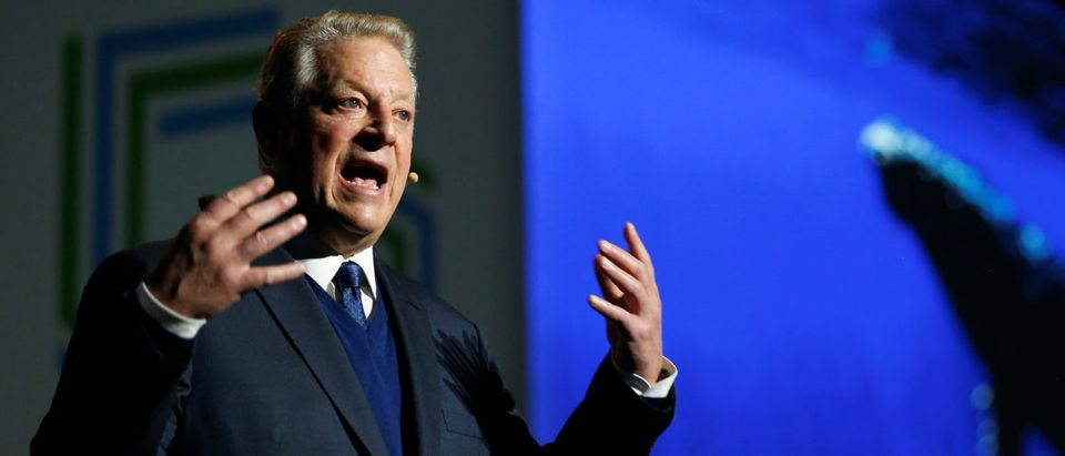 Al Gore, former U.S. vice president and Climate Reality Project chairman, gestures as he speaks at the COP24 UN Climate Change Conference 2018 in Katowice, Poland, on Dec. 12, 2018. Agencja Gazeta/Grzegorz Celejewski/via REUTERS.