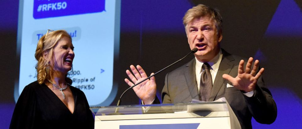 Robert F. Kennedy Human Rights President Kerry Kennedy and Alec Baldwin speak onstage 12-12-18 -- Getty Images - Kevin Mazur