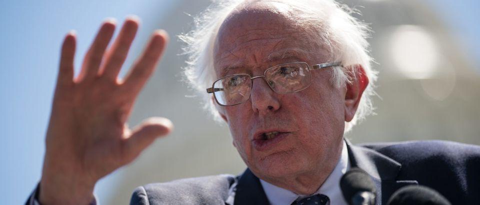 Sen. Bernie Sanders speaks about health care on Capitol Hill, June 26, 2017 in Washington, D.C. (Drew Angerer/Getty Images)