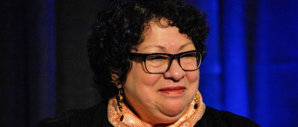 "Justice Sonia Sotomayor, speaks during Princeton University's ""She Roars: Celebrating Women at Princeton"" conference in Princeton, New Jersey. October 5, 2018. REUTERS/Dominick Reuter"