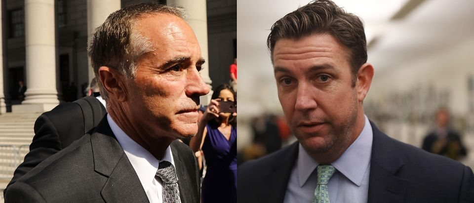Chris Collins and Duncan Hunter are two Republican congressmen who won re-election in 2018 despite charges of unethical financial dealings. Spencer Platt/Getty Images and Joe Raedle/Getty Images