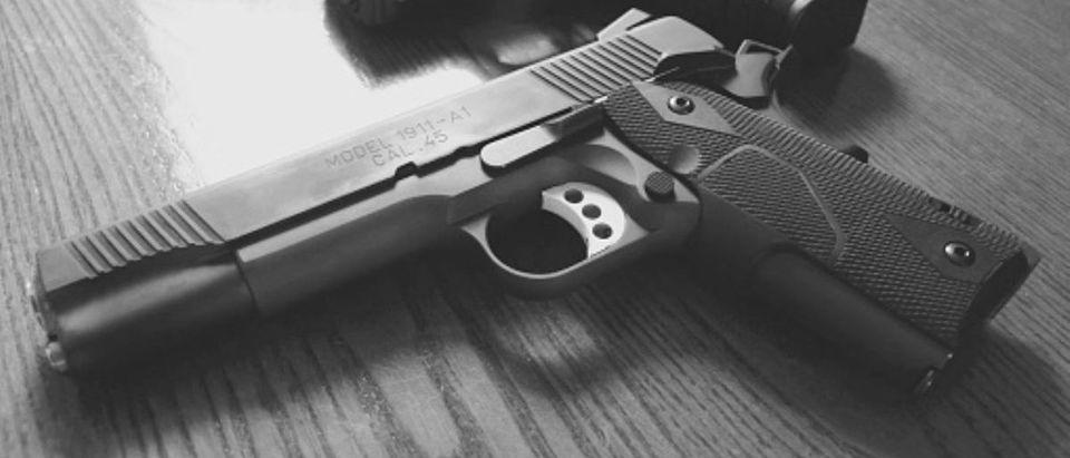 Handguns are pictured. (Photo: Getty Images/ Emily Fennick/ EyeEm)