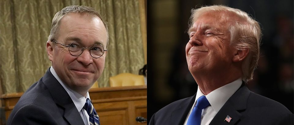 President Trump and Mick Mulvaney (LEFT: Mark Wilson/Getty Images RIGHT: Win McNamee/Getty Images)