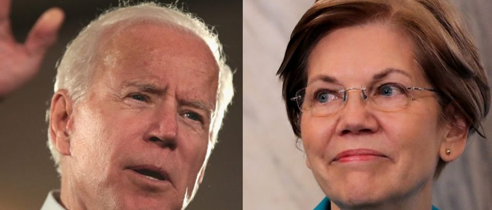 Health care could be a defining factor in the 2020 Democratic presidential primary, which could feature (L to R) Sen. Kamala Harris, former vice president Joe Biden or Sen. Elizabeth Warren. Somodevilla/Getty Images