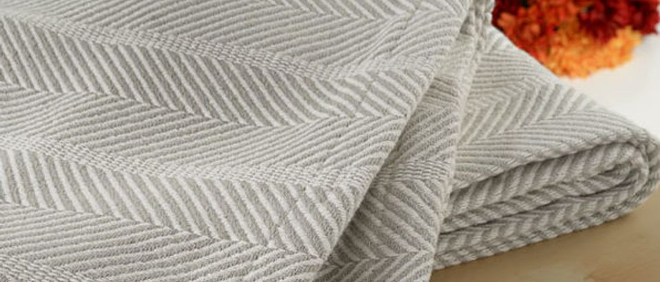 Normally $180, this cotton weave blanket is 81 percent off