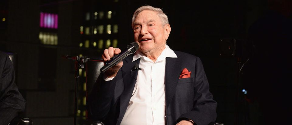 George Soros speaks onstage at the PHR 2017 Gala at Jazz at Lincoln Center on April 18, 2017 in New York City. (Photo by Andrew Toth/Getty Images for Physicians for Human Rights)