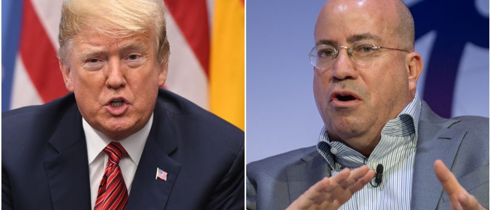 Left: President Donald Trump ( SAUL LOEB/AFP/Getty Images), Right: CNN President Jeff Zucker (Robert Marquardt/Getty Images)