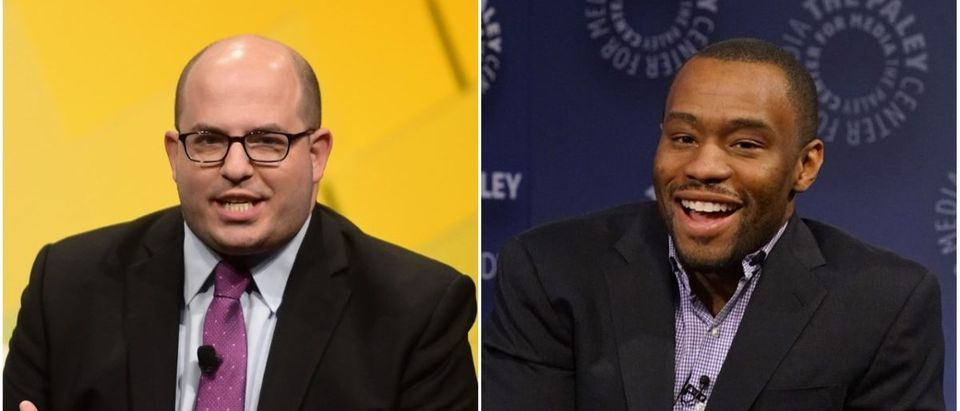 Left: Brian Stelter (Matt Winkelmeyer/Getty Images), Right: Marc Lamont Hill (Bennett Raglin/Getty Images)