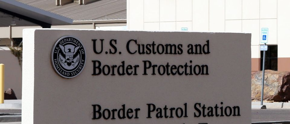 A sign denotes a U.S. Customs and Border protection station located in Fort Hancock, Texas on March 15, 2014. Shutterstock image via user Katherine Welles