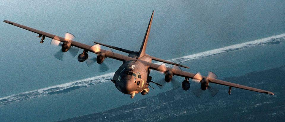 An undated file photo shows an AC-130 gunship. REUTERS/U.S. Air Force Photo