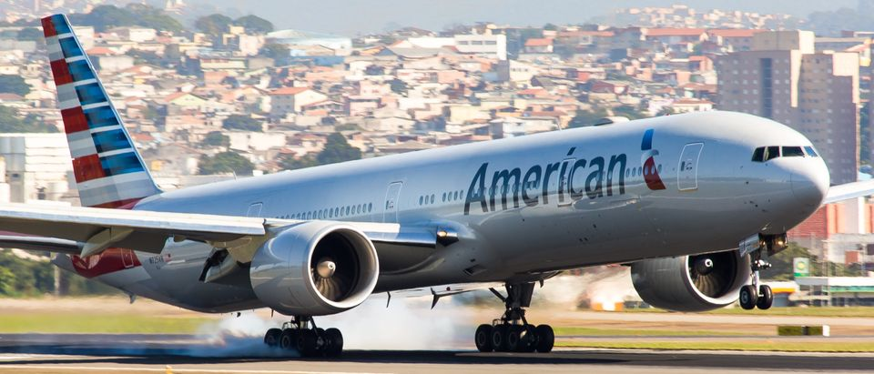 American Airlines plane taking off