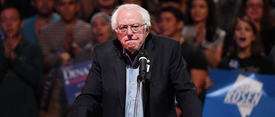 Sen. Bernie Sanders Attends Rally For Nevada Democrats In Las Vegas