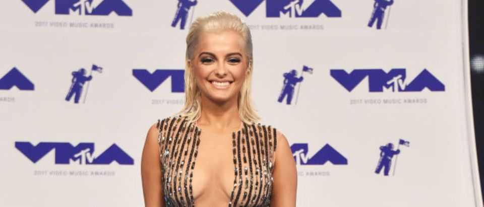 Bebe Rexha attends the 2017 MTV Video Music Awards at The Forum on August 27, 2017 in Inglewood, California. (Photo by Frazer Harrison/Getty Images)