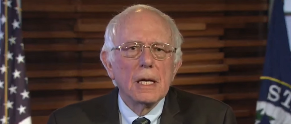 Bernie Sanders responds to Trump's address (screengrab)
