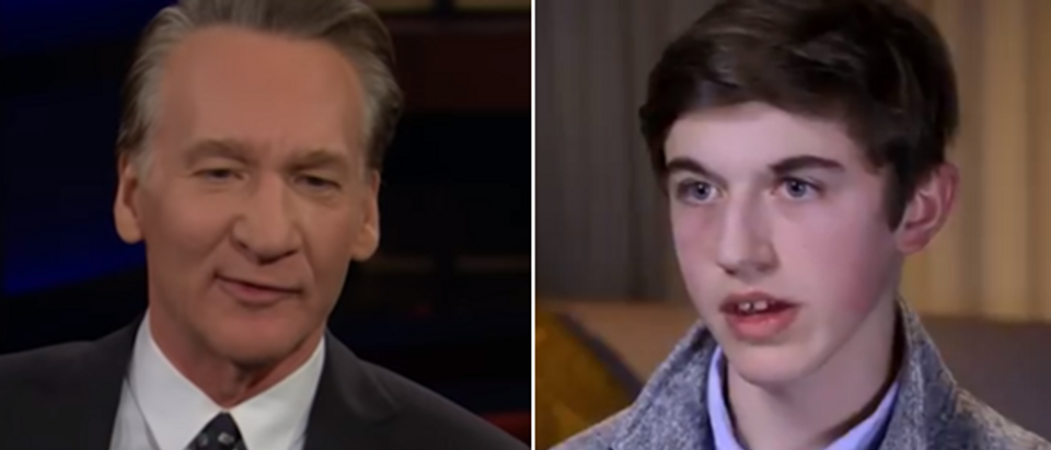Bill Maher (HBO Real Time With Bill Maher screengrab) Nick Sandmann (NBC Today screengrab)
