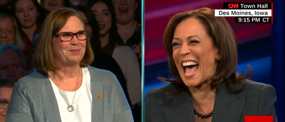 Democratic Sen. Kamala Harris of California participated in a CNN town hall Monday night and had the biggest audience for a single candidate forum in the history of cable news. (CNN's Kamala Town Hall - YouTube Screenshot 1-29-19)